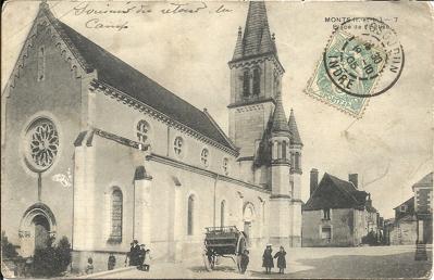 Monts, place de l'église (1905) dans Années 1900 cibard-a-clovis-1905