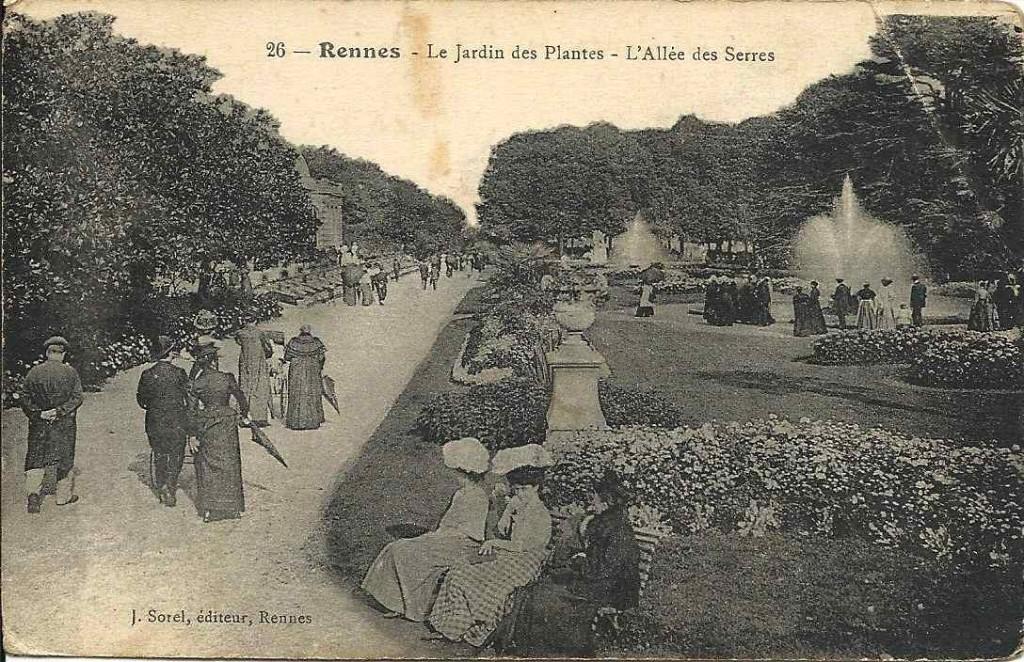 Rennes, le jardin des plantes (1917) | Doux, cartes postales
