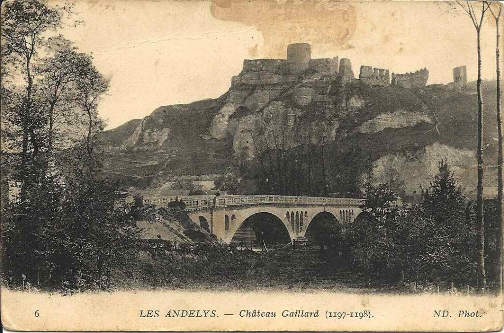 Les Andelys, château Gaillard 1915