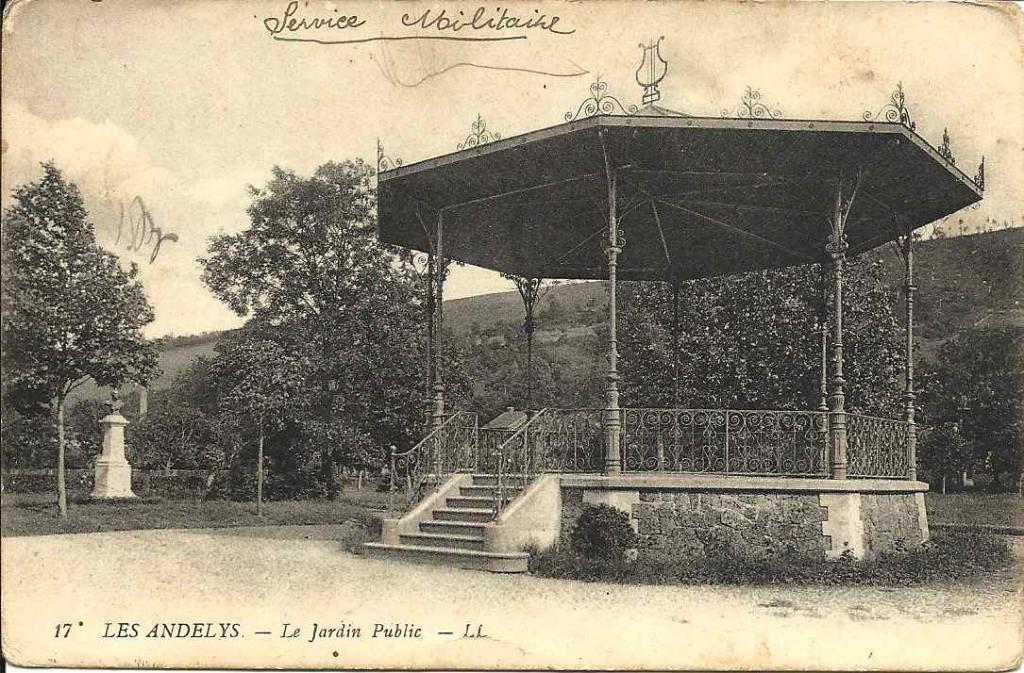 Les Andelys, jardin public 1915