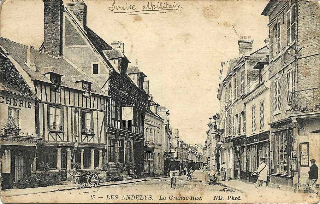 Les Andelys, la grande rue 1915