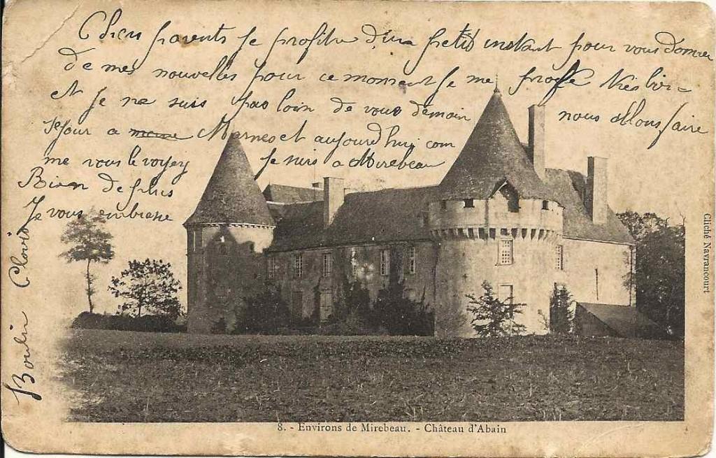 Mirebeau, château d'Abain 1903