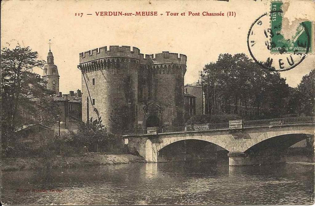 Verdun, tour et pont 1914